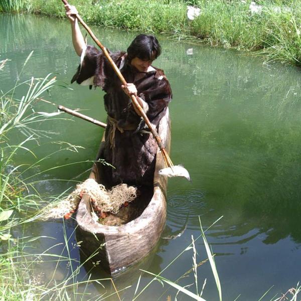 Fishing in the Stone Age - Ötzi Village, Umhausen, Ötztal valley