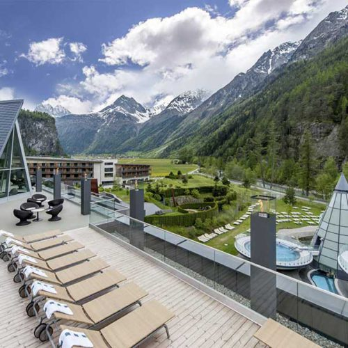 Terasse SPA 3000 Aqua Dome Tirol Therme Längenfeld - Ötztal, Tirol
