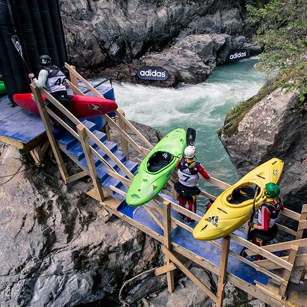 Kayaker am Start - adidas Sickline, Ötz, Ötztal, Tirol