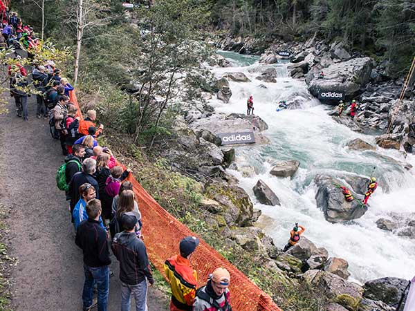 Spectators close to the action - adidas sickline, Ötz, Ötztal, Tyrol