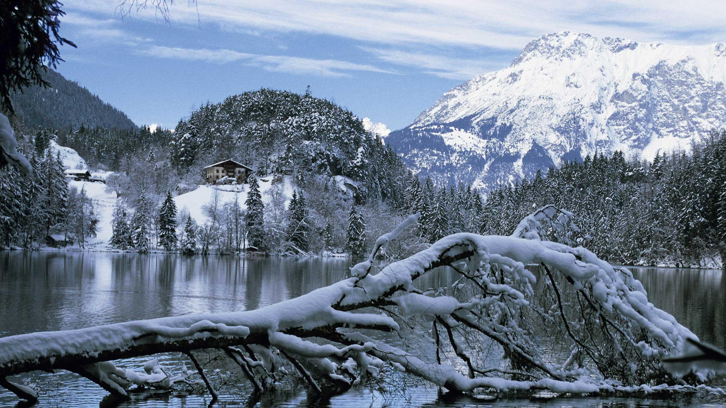 Piburgersee im Winter - Weihnachtsurlaub im Ötztal