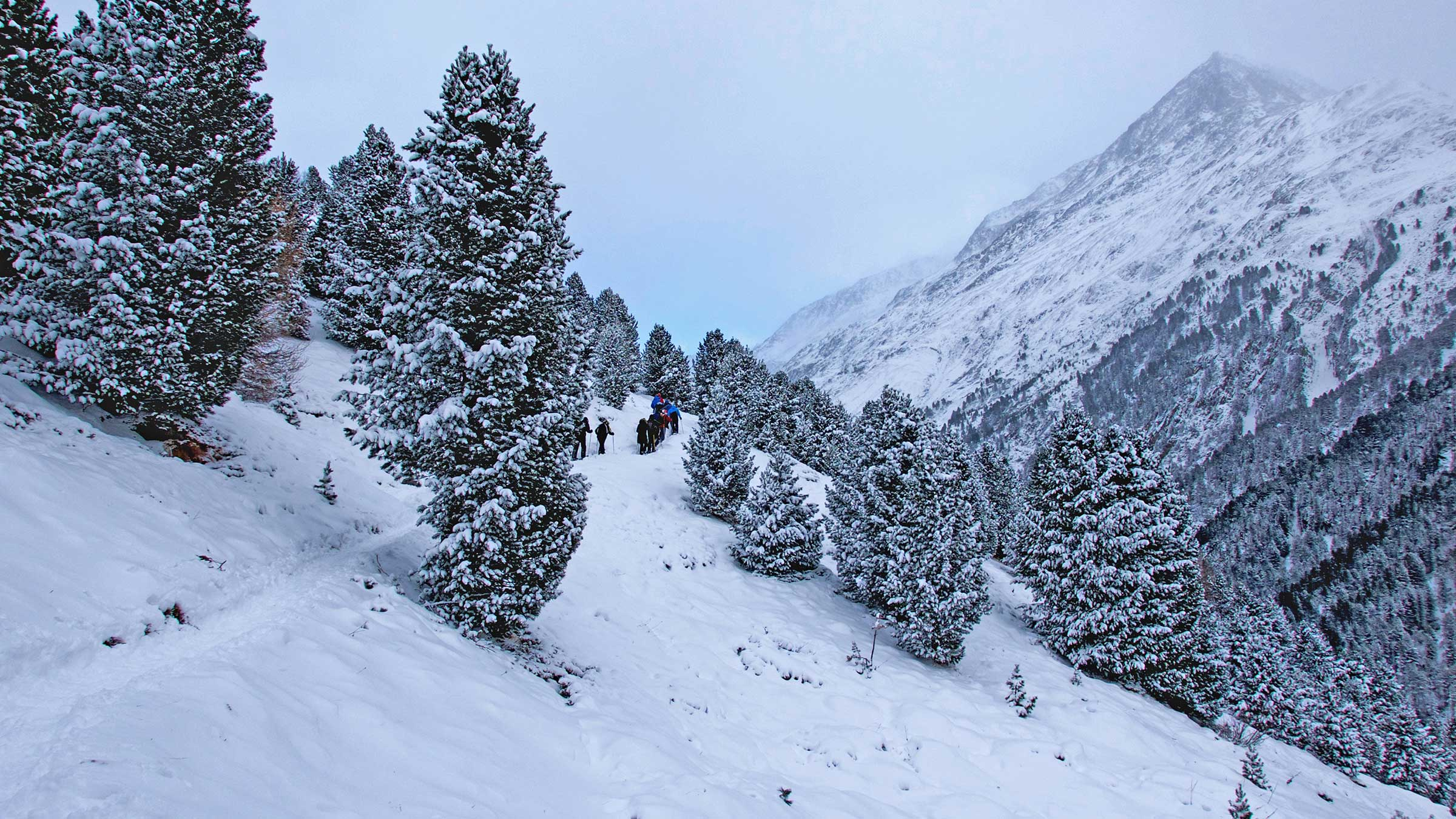 Mit den Schneeschuhen auf Ötzis Spuren