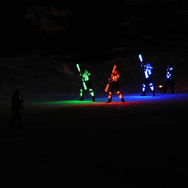 LED Showeinalge - Mondzauber Night Ski Show