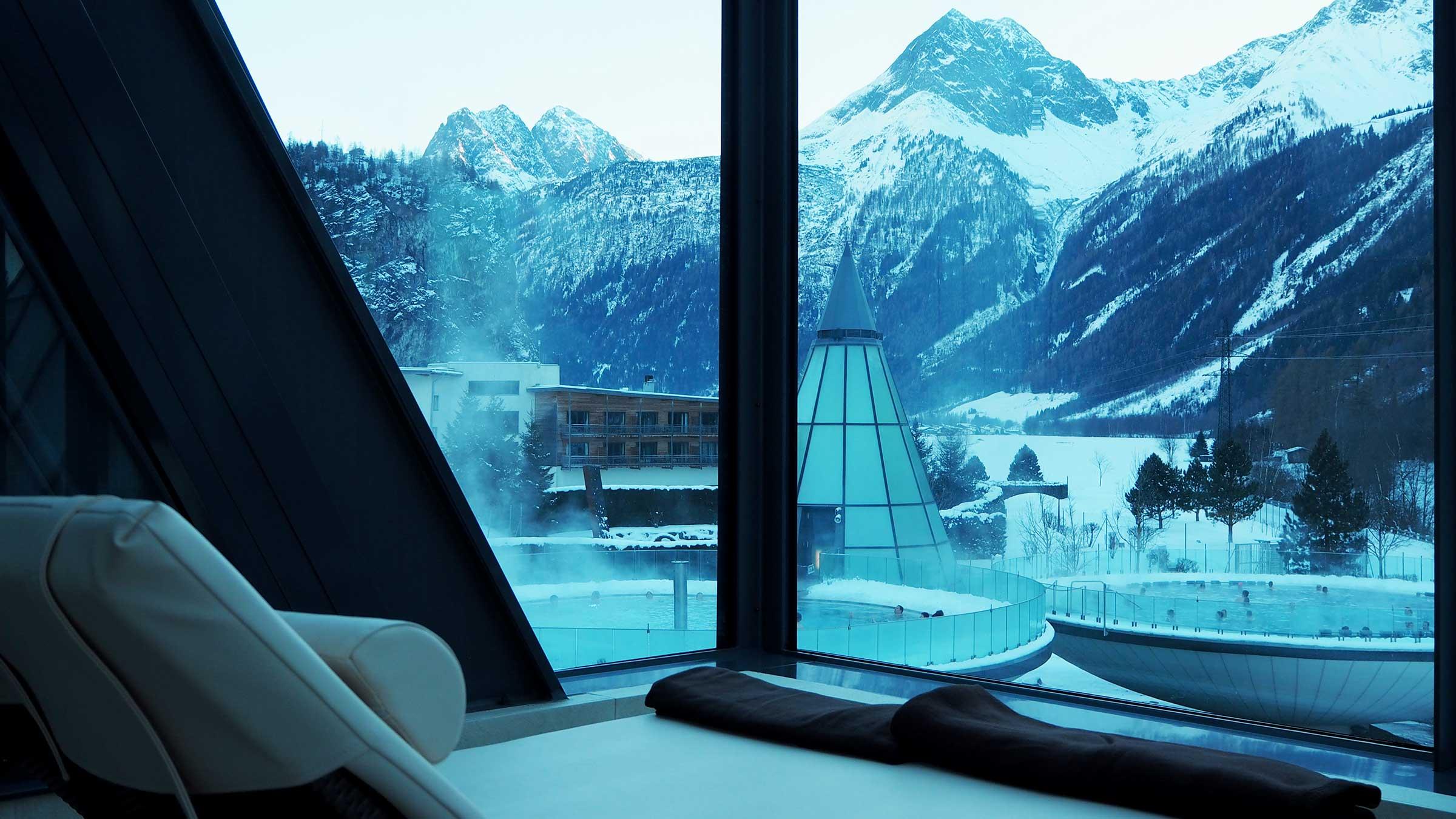 Persönliche Liege im Aqua Dome - Ski und Wellness