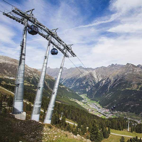 Gaislachkoglbahn im Sommer - Ötztal Premium Card