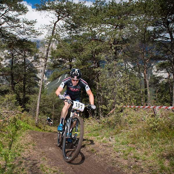 Gregor Raggl tritt in Pedale - Ötztaler Mountainbike-Festival