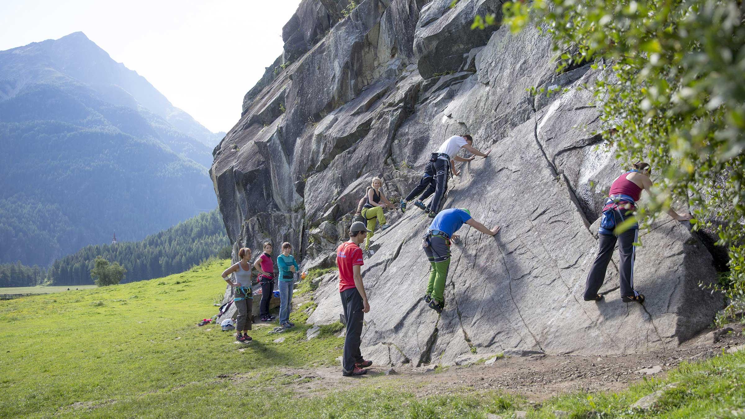 Erste Schritte beim Klettern - Klettern Tirol