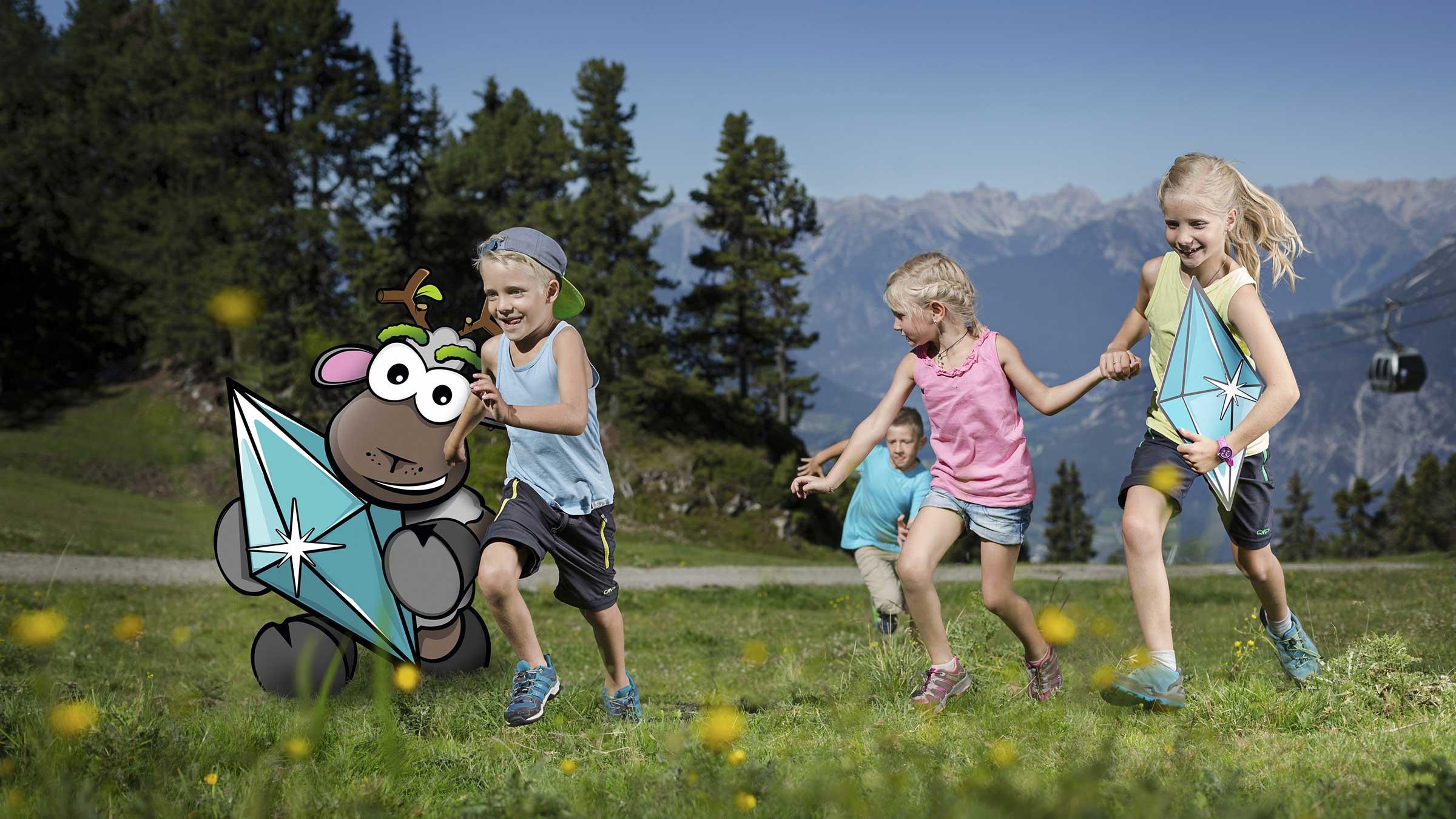 Widi und Kinder laufen um die Wette - Widiversum