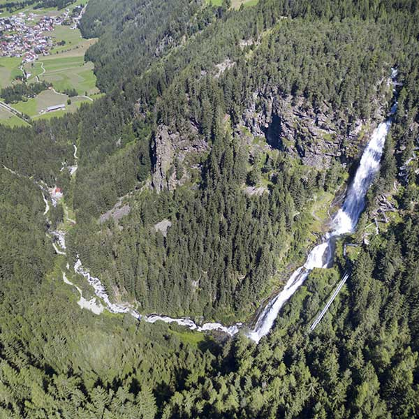 Blick auf den Stuibenfall - Urkraft Umhausen
