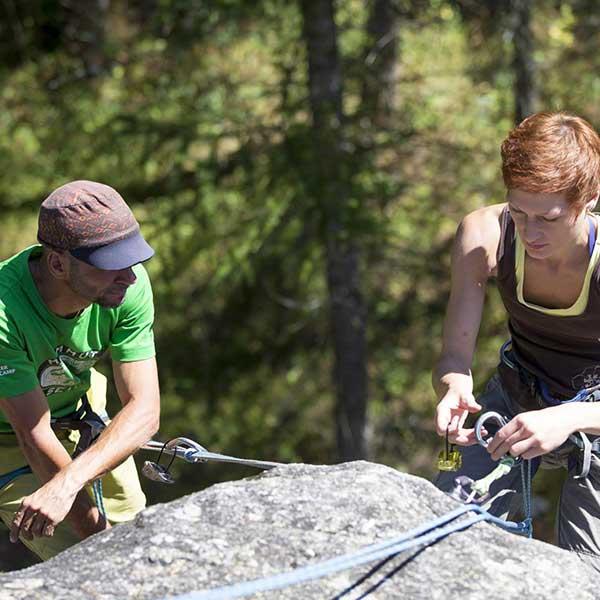 Sichern beim Klettern - Klettern Tirol