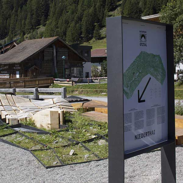 Naturpark Ötztal Infoträger Niederthai - Naturpark Ötztal