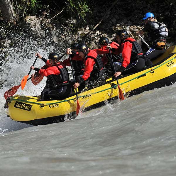 Raftinggruppe - Canyoning und Rafting im Ötztal