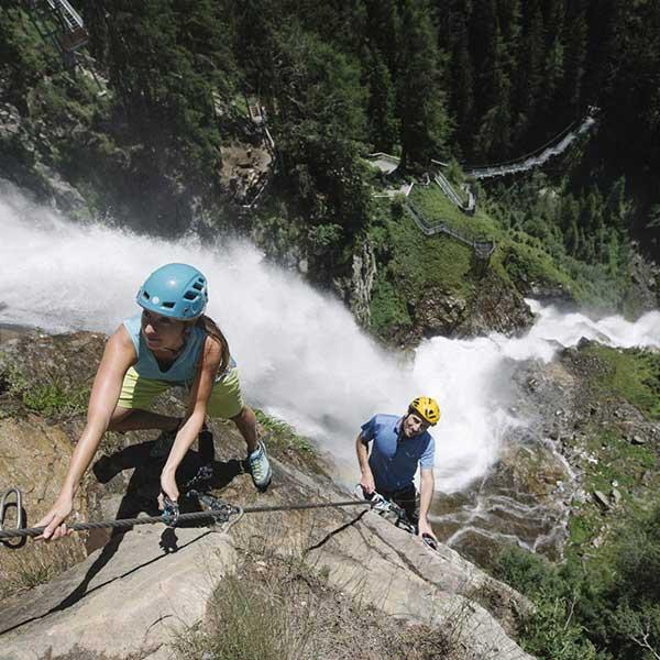 Stuibenfall Klettersteig - Tirol Klettern