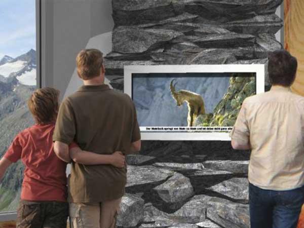 Rendering Naturpark-Infopoint Hohe Mut Alm - Naturpark Ötztal