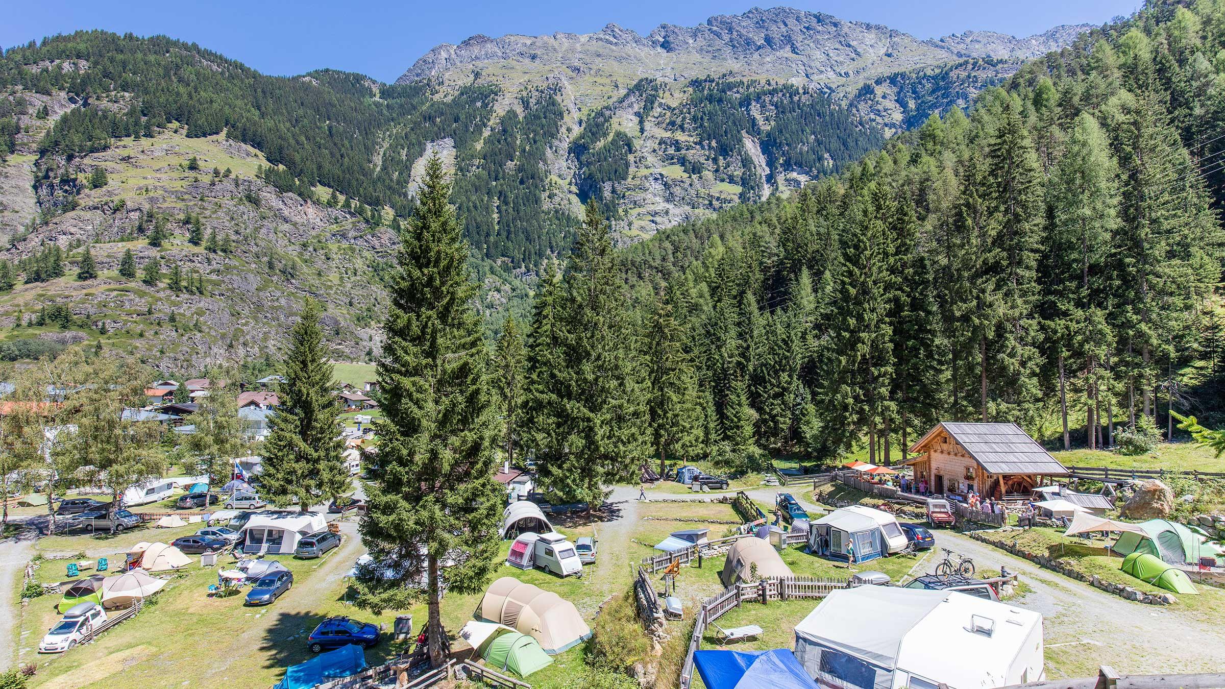 Campingplatz Huben bei Längenfeld - Camping im Ötztal