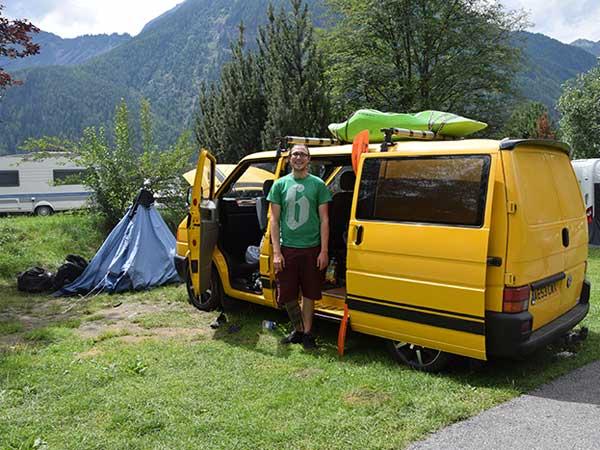 Peter am Campingplatz Umhausen - Camping im Ötztal