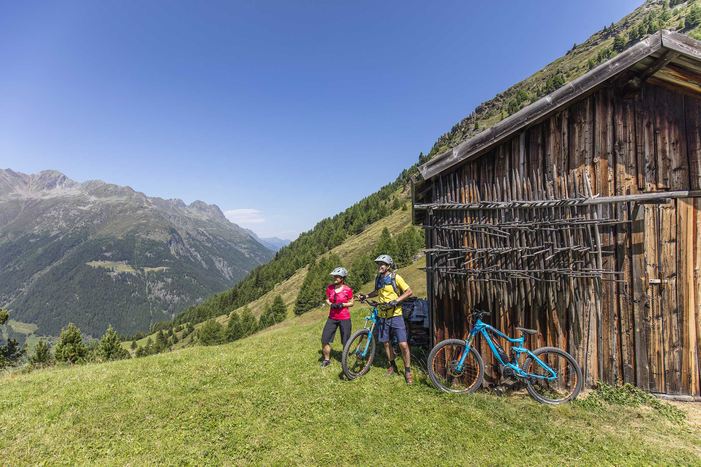 Alter Stadl auf Kleble Alm - E-Bike Ötztal
