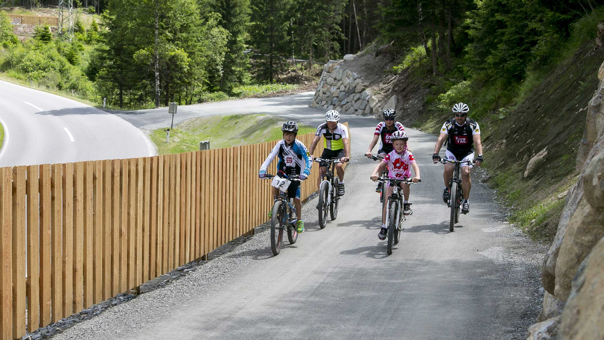 Valley-wide cycling on safe paths: Ötztal Cycle Trail