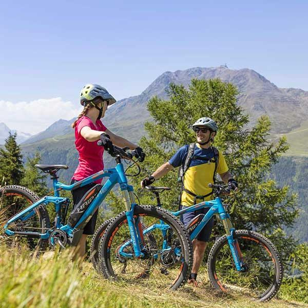 Mit dem E-Bike auf der Kleble Alm - E-Bike Ötztal