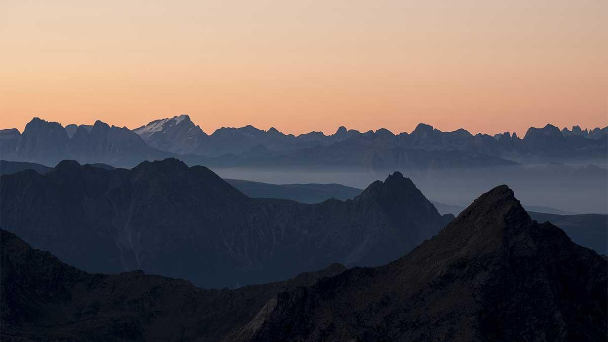 Blick von Zwickauer Hütte - Aussichtsberge Ötztal