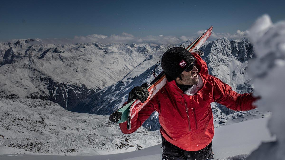 Hansjörg Auer beim Skibergsteigen - Südwand Hansjörg Auer