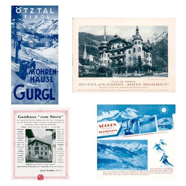Komposition Alte Werbeplakate 1 - Alte Werbeplakate Ötztal