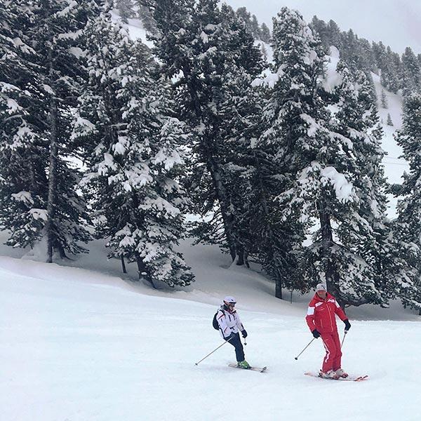 Kurt Fischer mit Dagmar Gehm - Skiregion Hochoetz