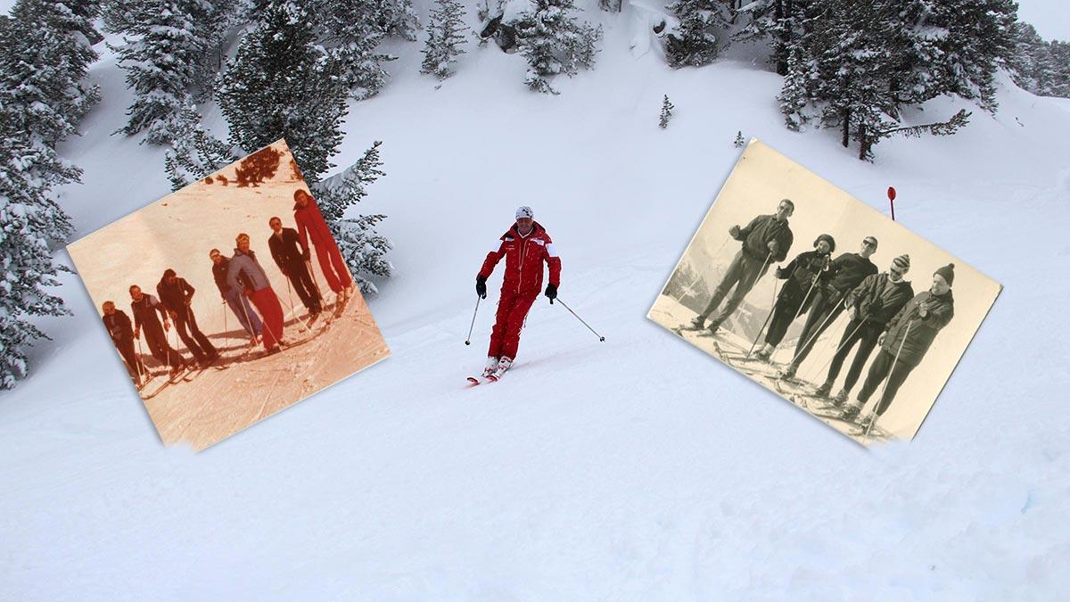 Kurt Fischer auf den Skiern - Skiregion Hochoetz