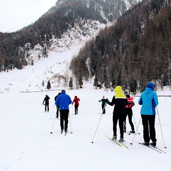 Gruppe Langläufer in Niederthai - Niederthai Card