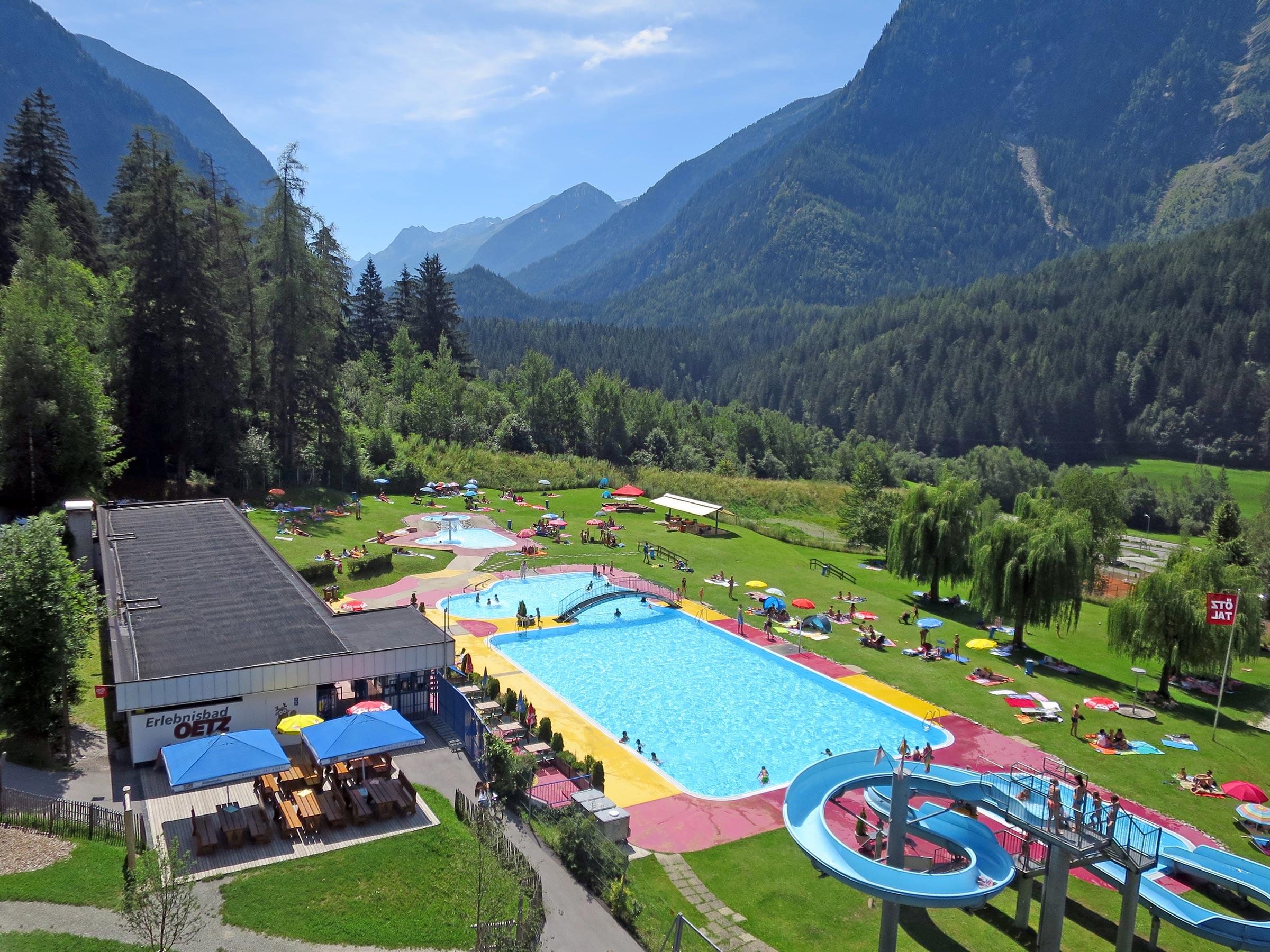 Erlebnisschwimmbad Oetz Überblick - Badeseen und Schwimmbäder Ötztal