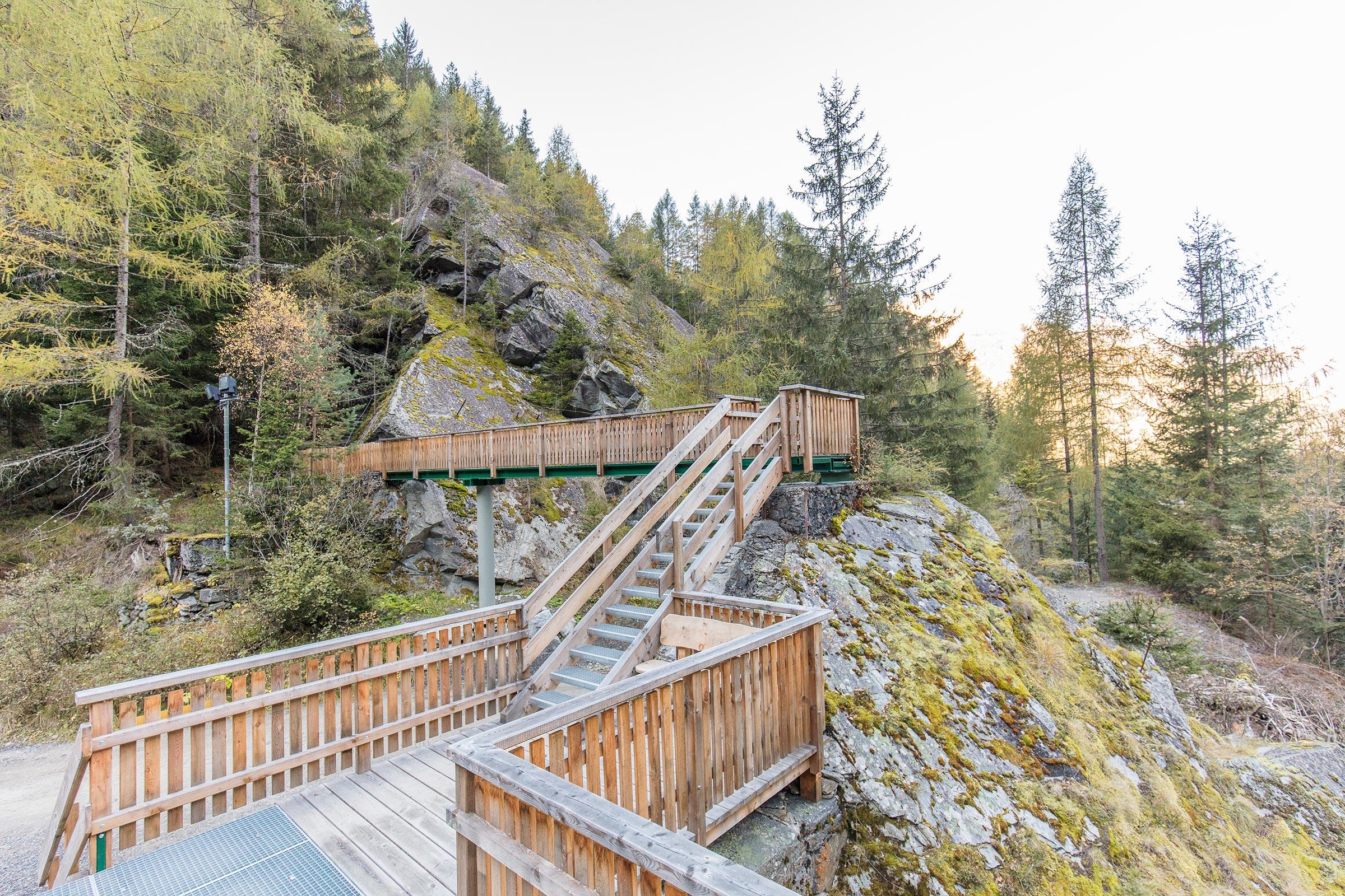 Blick auf Fischbachbrücke - Ötztaler Urweg