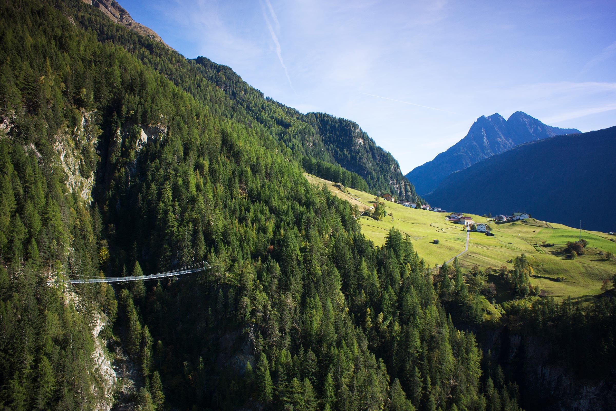 Hängebrücke Burgstein - Ötztaler Urweg