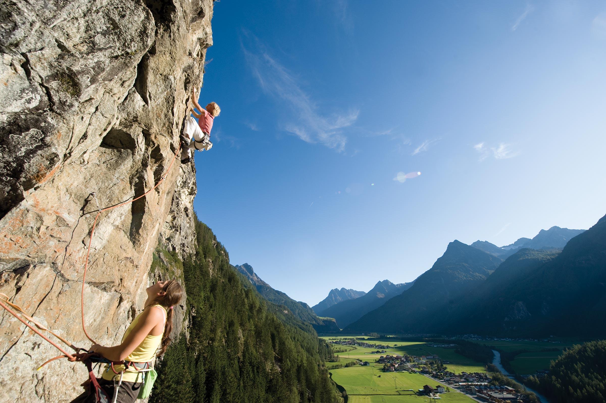 Klettergarten Nösslach - Klettern Ötztal