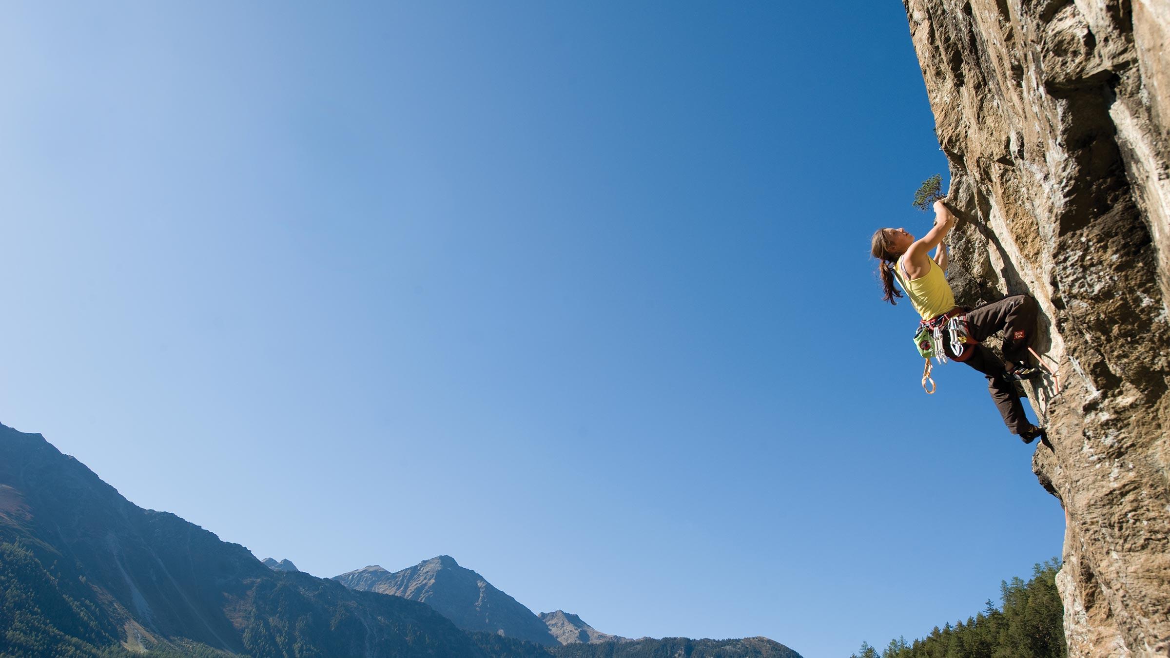 Klettern mit den jungen Wilden Katharina Bacher und Tobias Holzknecht