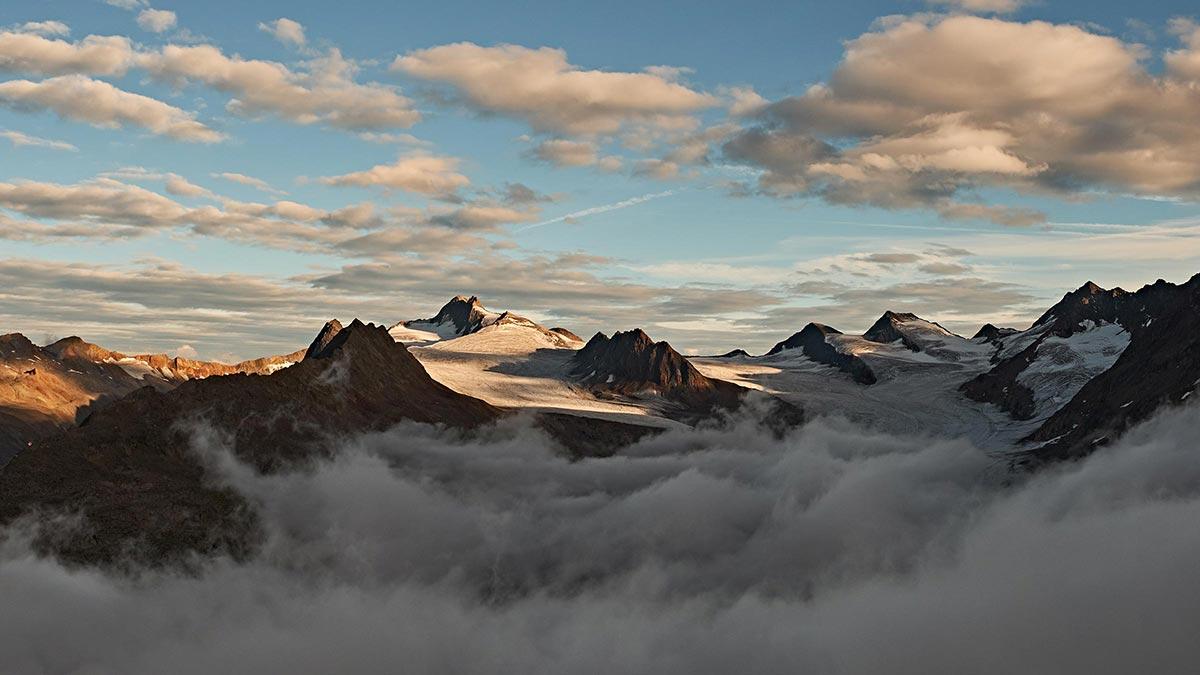 Mystische Stimmung an der Wildspitze - Wildspitze Ötztal