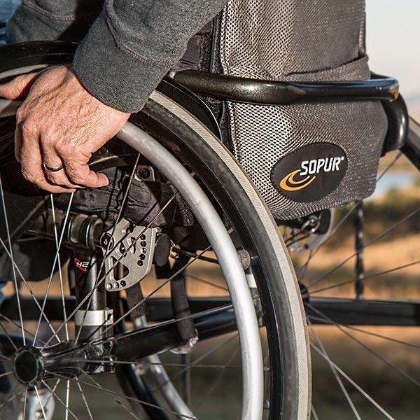 Rollstuhl Detail - Urlaub Rollstuhl