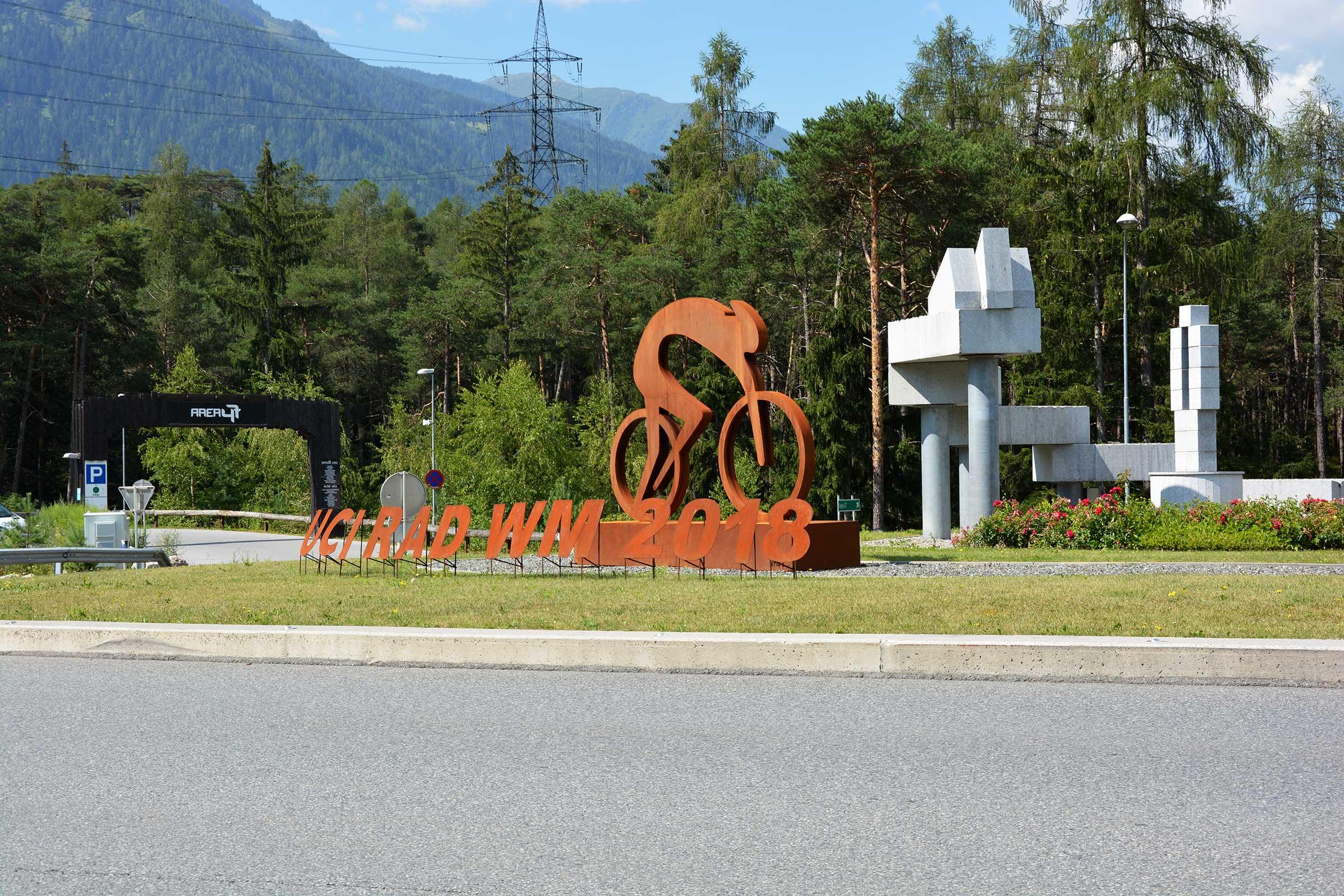 Kreisverkehr Ötztaler-Höhe - Rad-Weltmeisterschaft Ötztal