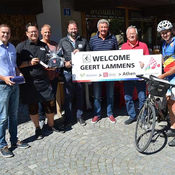 Touristiker und Gert Lammens - Rad-Weltmeisterschaft Ötztal