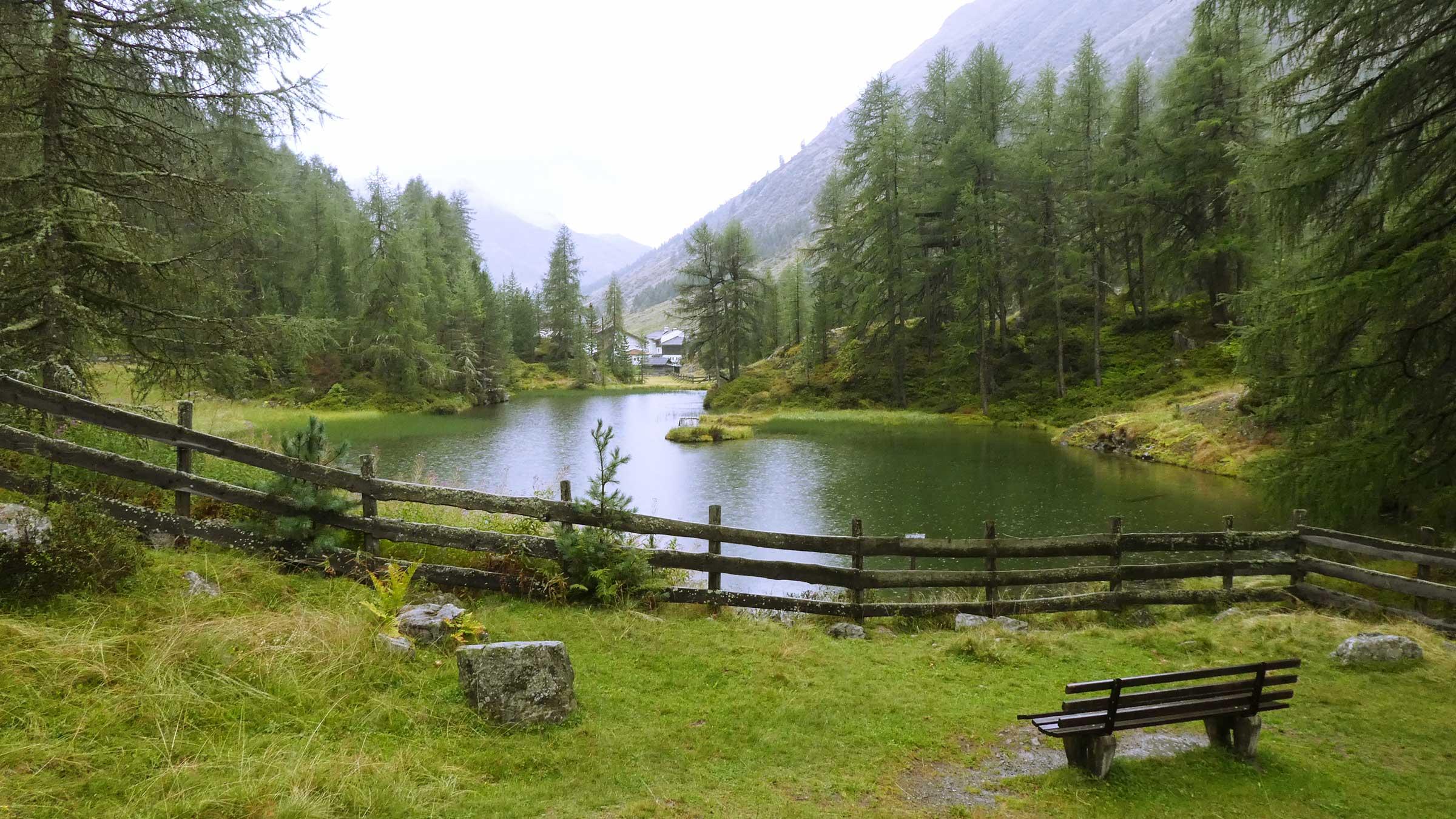 Der Pillersee bei Obergurgl - Unterwegs auf dem Ötztaler Urweg