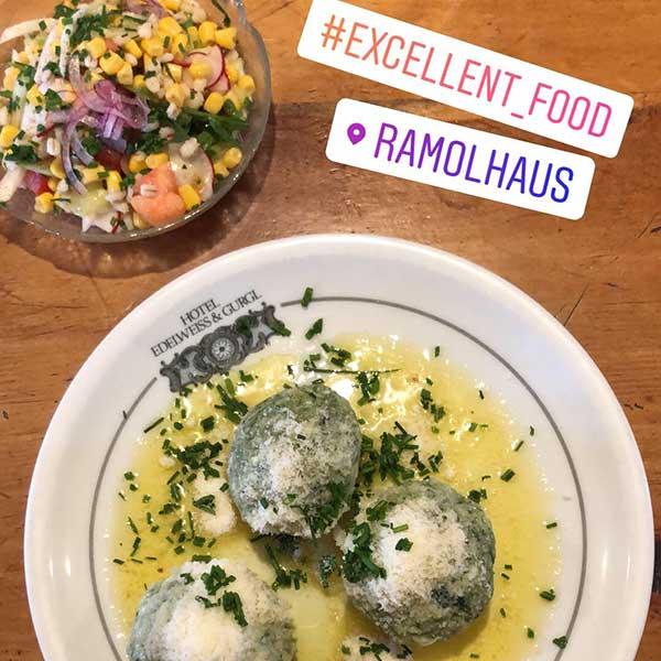 Essen am Ramolhaus - Unterwegs auf dem Ötztaler Urweg