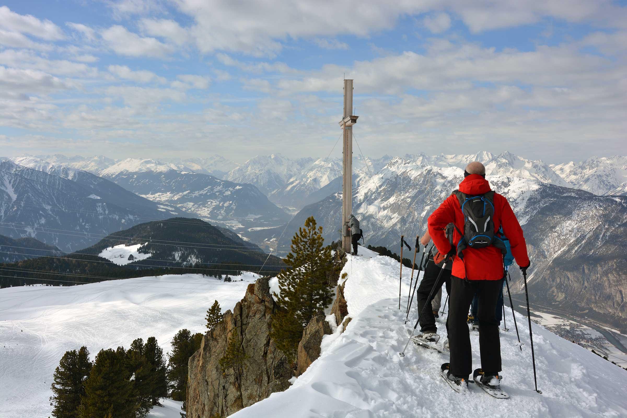 Gipfelgrad Faltergartenköpfl - Schneeschuhwanderung Ötztal