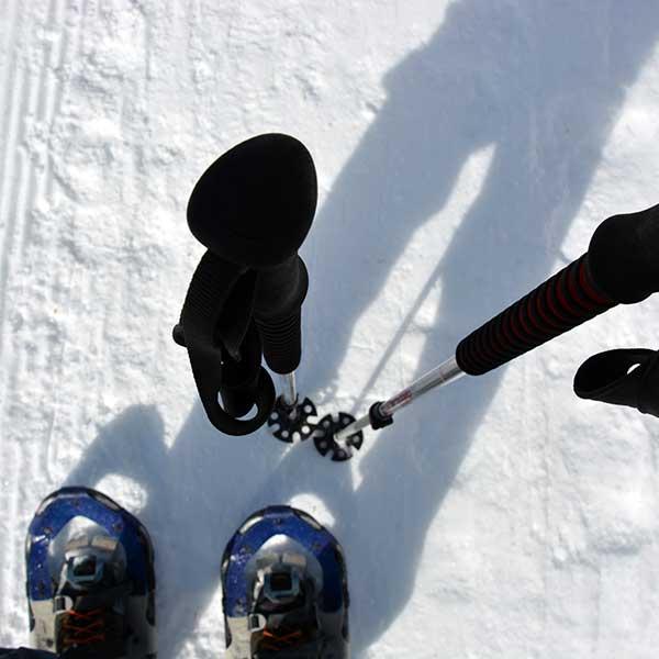 Schneeschuhe und Stöcke - Schneeschuhwanderung Ötztal