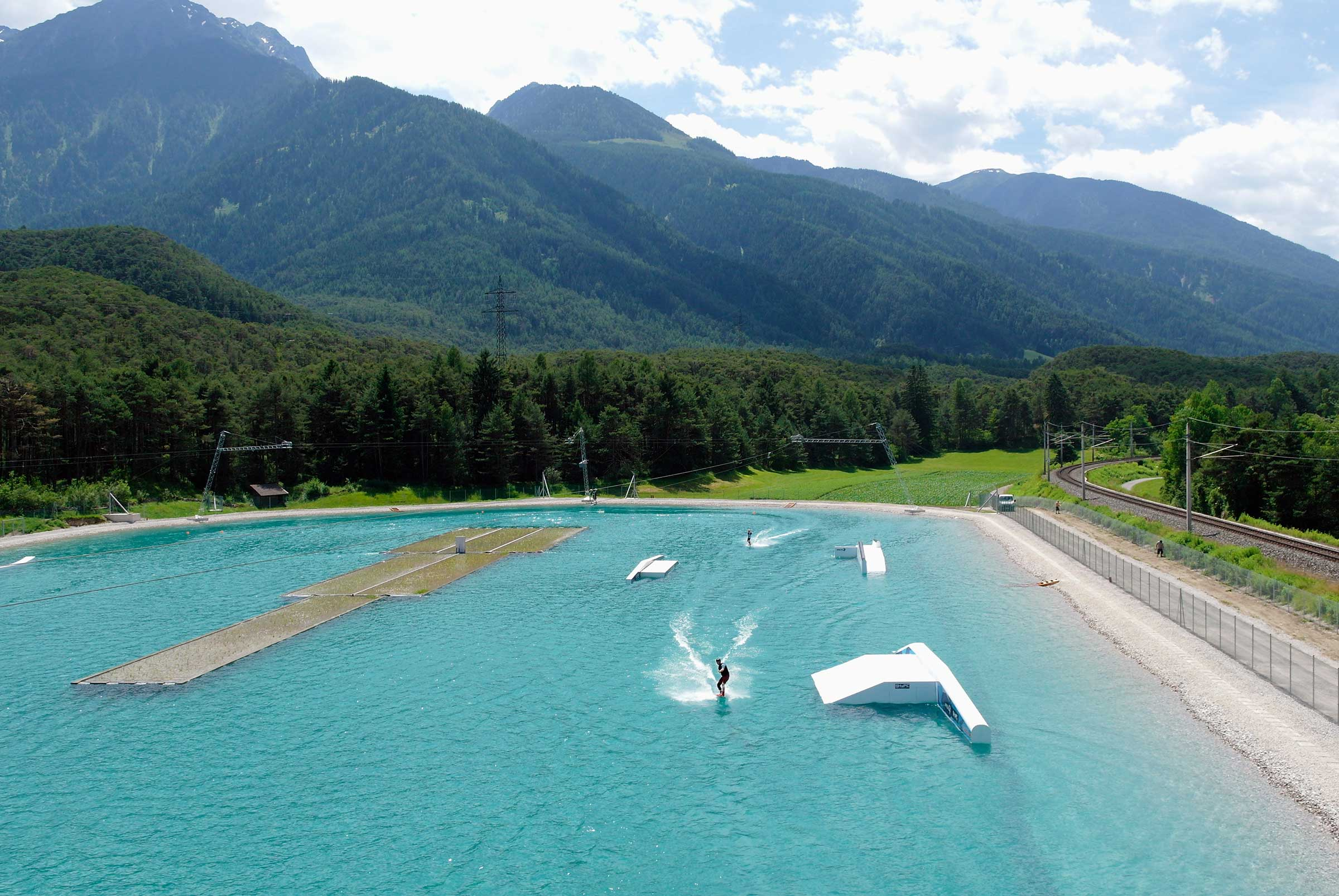 Wake Area in der AREA 47 -Rafting & Canyoning Ötztal