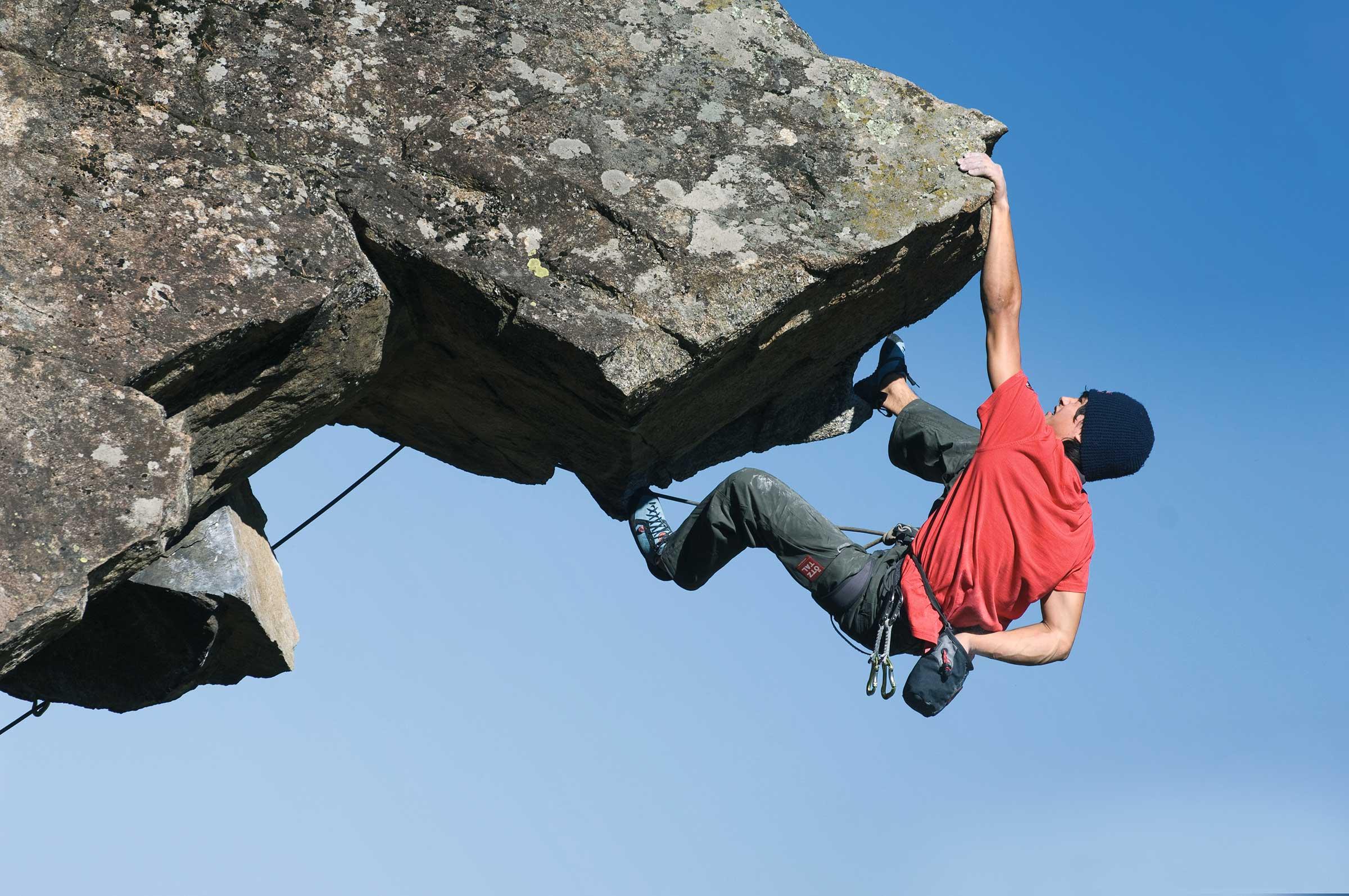 David Lama beim Klettern in Längenfeld - Abschied von den Besten