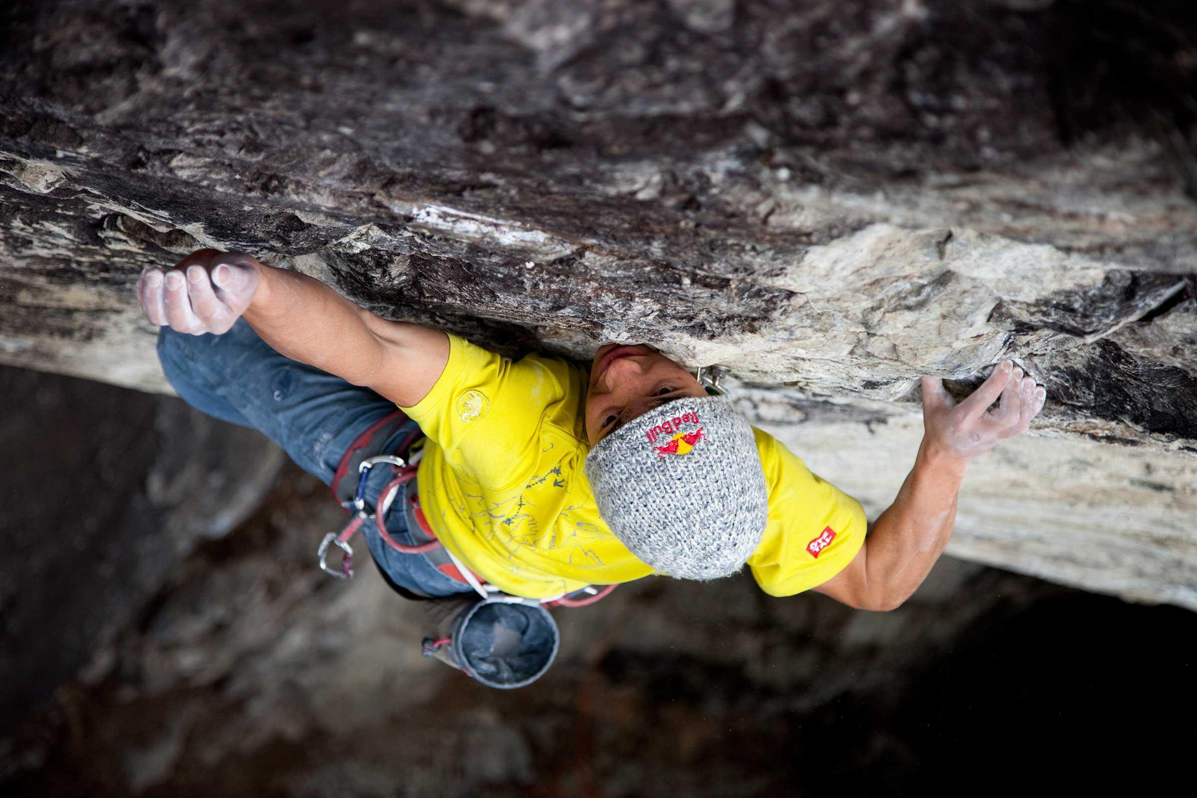 David Lama beim Klettern in Nösslach - Abschied von den Besten
