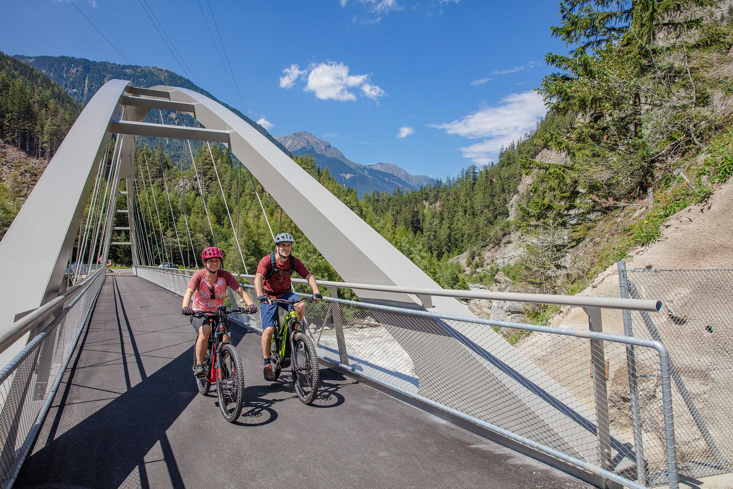 Ferdinand Brücke am Ötztal Radweg - Ötztal Radweg