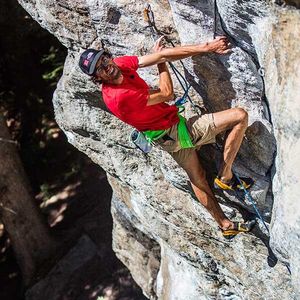 Hansjörg Auer beim Klettern während des Ötztaler Klettercamps - Abschied von den Besten