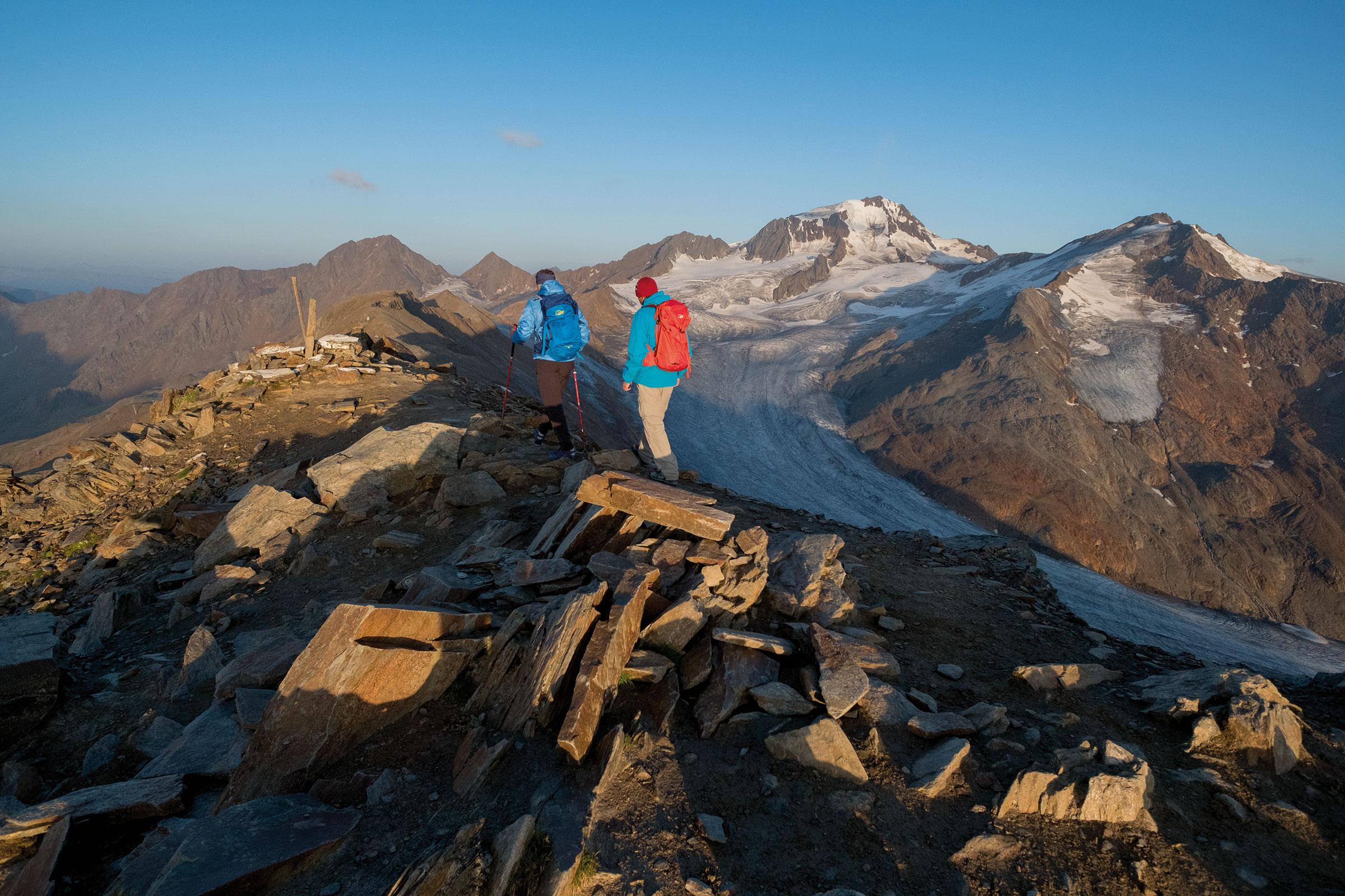 Duo am Grat im hinteren Ötztal - Ötztaler Gletscher