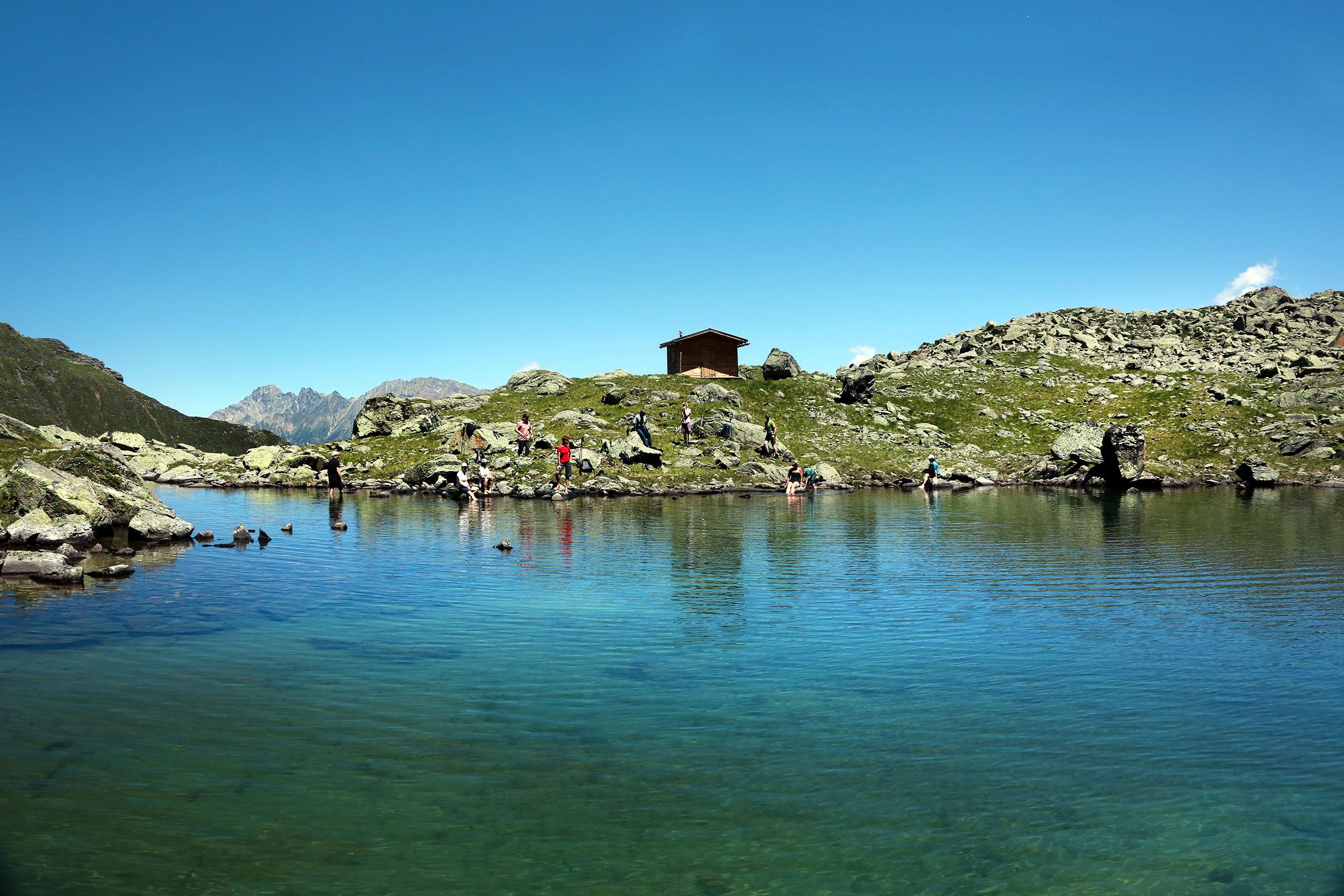 Spitzig See bei Längenfeld - der Hitze entfliehen