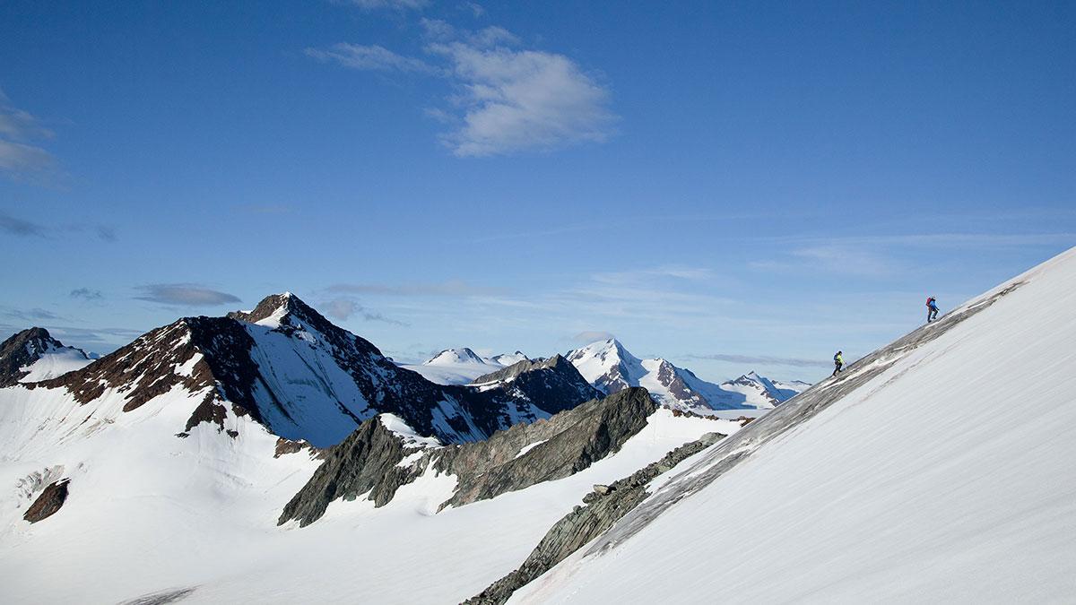 Duo auf dem Weg zum Gipfel - Ötztaler Gletscher
